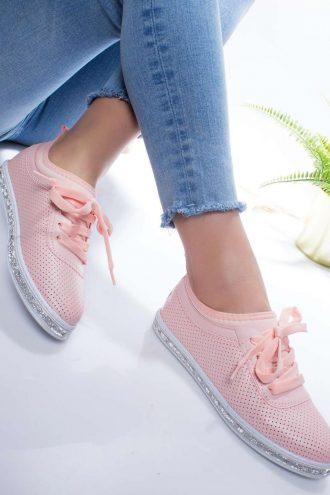 کفش اسپرت صورتی روشن  Modagon 156576174