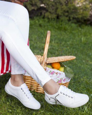 کفش زنانه سفید  100% اصل چرم Deripabuc 156593594