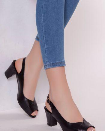 کفش پاشنه بلند زنانه مشکی  100% اصل چرم Deripabuc 156533593