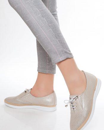 کفش زنانه اکریلیکی بژ  100% اصل چرم Deripabuc 15659359