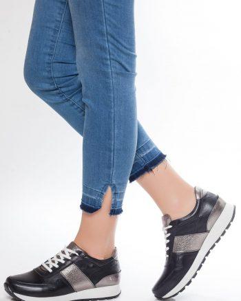 کفش اسپرت زنانه نقره ای مشکی  100% اصل چرم Deripabuc 156593617