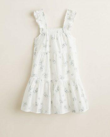 پیراهن بچه گانه دخترانه سفید  MANGO Kids 156499129