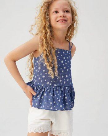 شلوارک بچه گانه دخترانه سفید  MANGO Kids 15649913