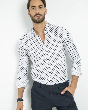پیراهن چاپی خالدار بزرگ  مردانه Sateen Men 1566293184