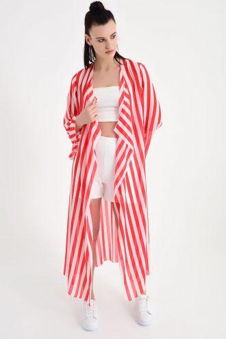 کیمونو ابریشم شیفونی بلند زنانه  Laranor 156551734