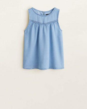 پیراهن نرم جین بچه گانه دخترانه  MANGO Kids 156499185