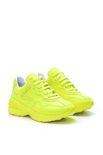 کفش اسپرت اسنیکر زنانه سبز چرم 100% اصل الاستن Derimod 1565758547