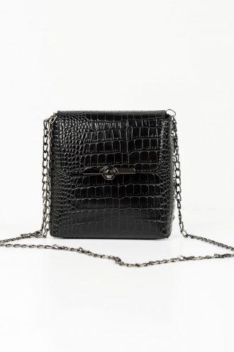 کیف جعبه ای آستین کوتاه زنجیردار مشکی زنانه  Addax 1565597828
