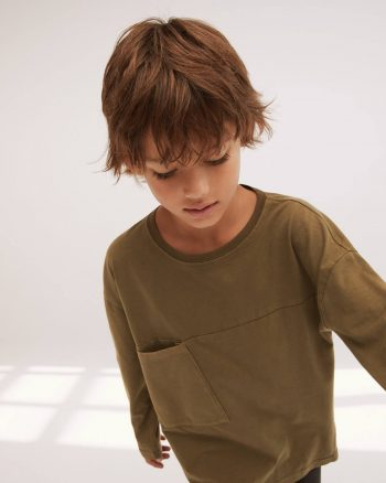 تیشرت بچه گانه مردانه یشمی  MANGO Kids 1565181