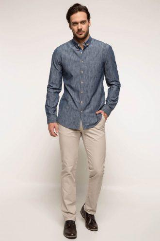 پیراهن  یقه دار سه دکمه مردانه DeFacto 156569822