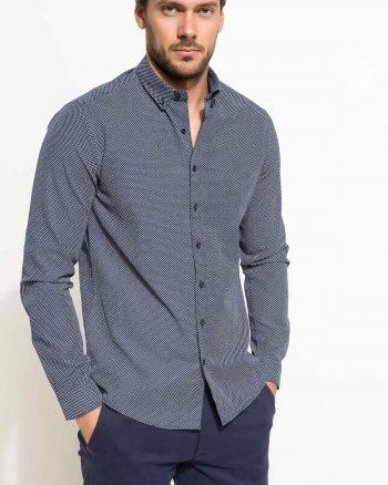 پیراهن طرح دار زانو  مدرن مردانه DeFacto 1566118783
