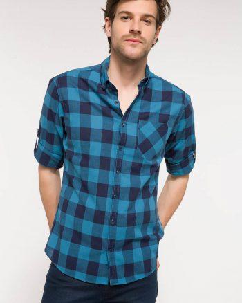 پیراهن چهارخانه دکمه دار مردانه  DeFacto 156611881