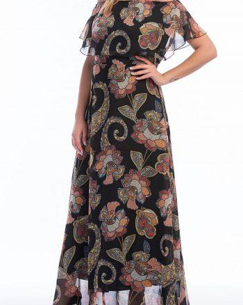 پیراهن ابریشم شیفونی طرحدار شال زنانه  ANGELINO 156491515