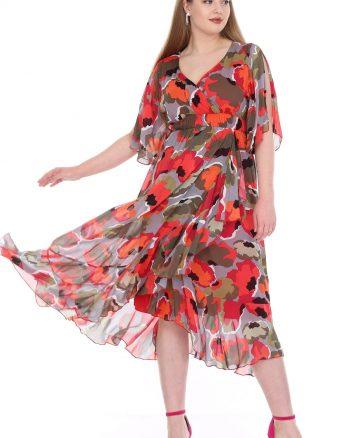پیراهن بلند ابریشم شیفونی طوسی زنانه  ANGELINO 156491495