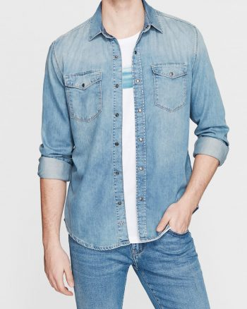 پیراهن جین جیب دار مردانه الاستن Mavi 156637174