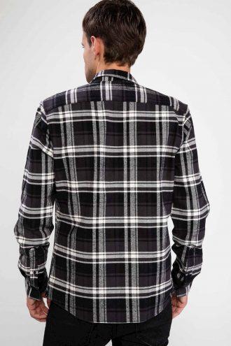 پیراهن چهارخانه جیب دار مردانه  DeFacto 156569873