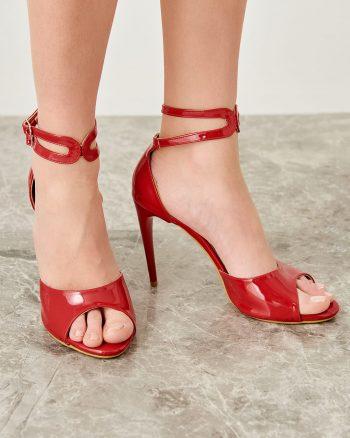 کفش پاشنه بلند زنانه  ورنی TRENDYOLMİLLA 156631991