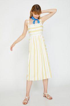 پیراهن زرد زنانه  Koton 156593283