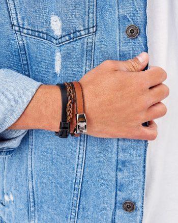دستبند  100% اصل مردانه رنگ چرم TRENDYOL MAN 156594791