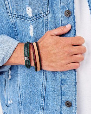 دستبند دار  100% اصل مردانه رنگ چرم TRENDYOL MAN 1565947929
