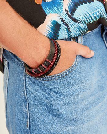 دستبند  دار 100% اصل مردانه رنگ چرم TRENDYOL MAN 1565947914