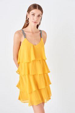 پیراهن  زرد TRENDYOLMİLLA 15658493