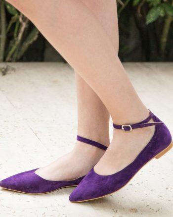 کفش عروسکی زنانه ارغوانی  Mecrea 1565796195