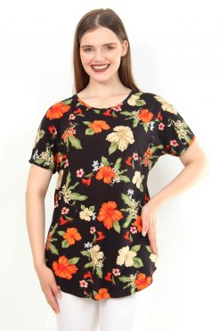 بلوز طرح دار گلدار زنانه  Moda Cazibe 15655821