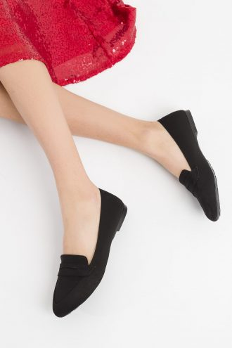 کفش عروسکی زنانه  مشکی جیر SOHO 15655972