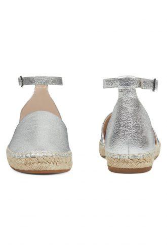 کفش عروسکی زنانه نقره ای  100% اصل چرم Nine West 1565335594
