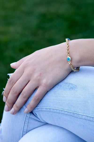 دستبند زنجیردار سه تایی زنانه  Modex 1565597342